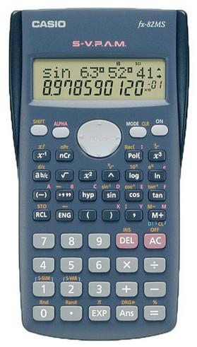 calculadoras permitidas en selectividad casio fx-82ms